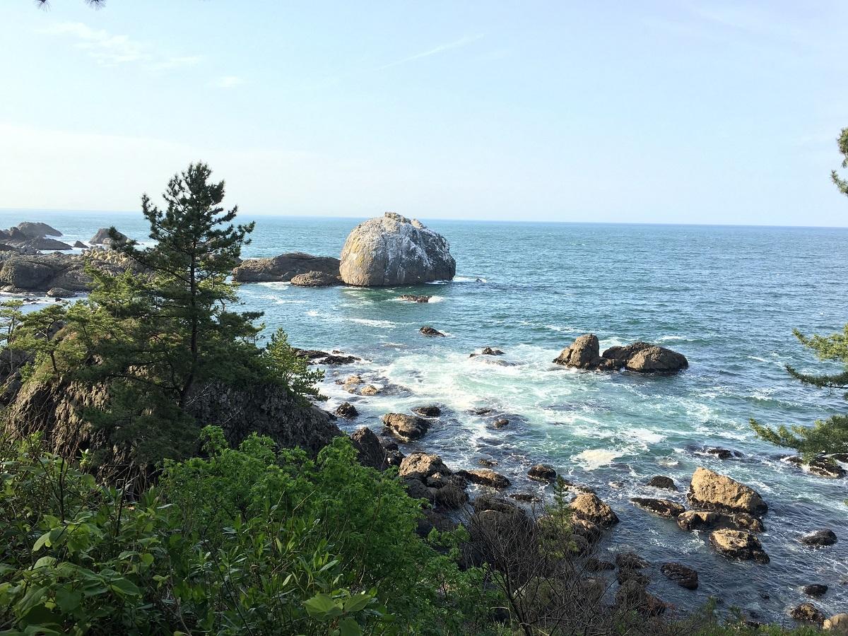 Michinoku Coastal Trail at Kabushima Beginner course